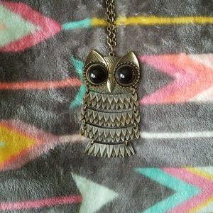 Large Antique Owl Necklace